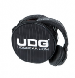 UDG Headphone Bag - Black / Grey Pinstripe